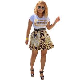 Mini saia floral vintage on-line-2019 Mulheres Vestidos de Verão Bohemian Floral Do Vintage Impresso Ruffle Hem Manga Curta O Pescoço Mini Vestido de Boate Festa Saia S-XL