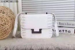 Sacos de crocodilo reais on-line-Couro clássico Mulheres Cross Body couro Real Crocodile grain Pequenos sacos com Hasp Camadas duplas bolsos com slot para cartões