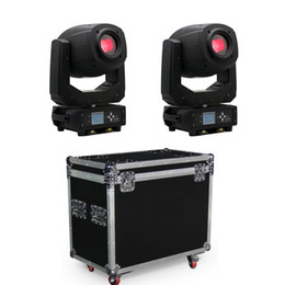 Led caso di volo a testa mobile online-Stage lightings LED moving head light beam spot wash zoom 2 unità con flight case packing