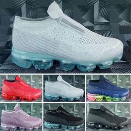 Compre Nike Air Max Sin Cordones VM 2018 Platinum Para Niños Zapatillas De Deporte Gris Blanco Del Arco Iris Infantil Entrenador Zapatos De Niños