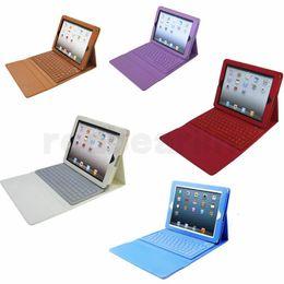 2019 apple ipad bluetooth keyboard stand Étui en cuir avec clavier Bluetooth sans fil avec support pour ipad mini air pro avec clavier apple ipad bluetooth keyboard stand pas cher