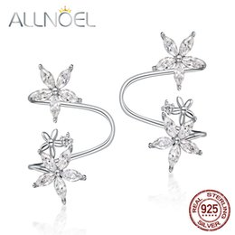 2019 прекрасная клипса ALLNOEL 2019 Pure 925 Sterling Silver White Agate Clip Earrings For Women Star Charm Handmade Fine Jewelry Gifts Mother's Day скидка прекрасная клипса