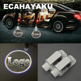 willkommen tür licht audi Rabatt 2 stücke auto styling autotür lichter logo projektor willkommen led lampe geisterschatten lichter für Mercedes-Benz BMW Toyota Audi