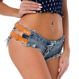 heiße, niedrige jeans Rabatt Sexy Quaste gespleißt Low Rise Taille Hot Shorts Jeans High Cut Denim Beute Jeans Shorts Vintage Micro Mini Short Club Beach Wear