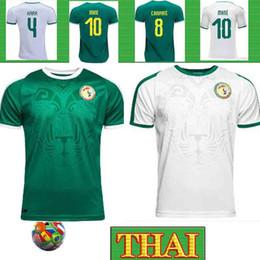 2019 mannschaftsfußballhemden Thai 19 20 Afrika Cup Senegal Fußball-Jersey-Top-Qualität WM 2018 Senegal nationale MäHNE Fußballmannschaft Fußballhemd Fußballhemd rabatt mannschaftsfußballhemden