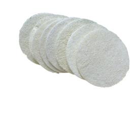 пластиковая банная губка Скидка Диаметр фабрики сразу 7.5*7.5 cm круглый естественный wipe ванны мытья мочалки