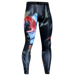 47d4a6c93d 2019 Sport Leggings Running Tights Men 3D Print Fitness Compression Pants  Joggers Quick Dry Exercise Base Layer Mens Trousers