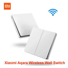 Deutschland Xiaomi Aqara Wireless Smart Switch Licht Fernbedienung ZiGBee wifi Wireless Key Wandschalter arbeiten mit Mijia Mi Home APP Versorgung