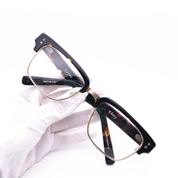 closer at new collection best choice Belight Optical Brand Design Acetate with Metal Vintage Retro Half Rimless  Men Glass Prescription Eyes Spectacle Frame Eyewear kd008