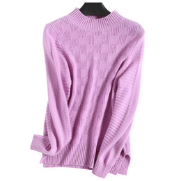 f397c573dd3 Discount pink ladies sweater - Cashmere Wool Knitted Sweaters Woman Winter  Pullovers Cable Knit Plaid Knitwear