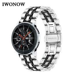 cinturones únicos Rebajas Correa de reloj de acero inoxidable exclusiva para Samsung Galaxy Watch 46mm SM-R800 Banda de liberación rápida Correa deportiva Correa de repuesto