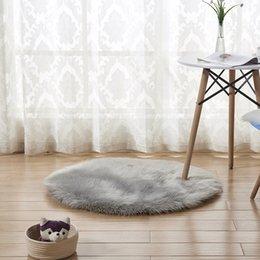 2019 tappeto rotondo per bambini Fluffy Round Rug Tappeti per soggiorno Decor Faux Fur Carpet Kids Room Long Peluche Tappeti per camera da letto Shaggy Area Rug tappeto rotondo per bambini economici