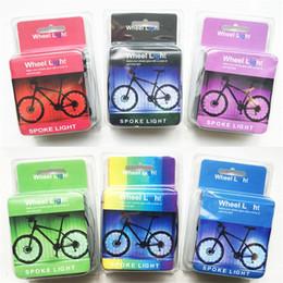 Luces de cadena al aire libre con pilas online-Lámpara de cuerda de alambre colorido bicicletas 2m Longitud pilas Led Luz Rueda de bicicleta Ciclismo luces del rayo para el aire libre 13yqa E1
