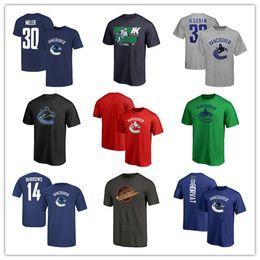 vancouver grátis Desconto 18 19 dos homens de Vancouver Canucks marca Hockey Jerseys Cool Sport t-shirt azul preto cinza fãs Tops Tees camisas frete grátis impresso Logos