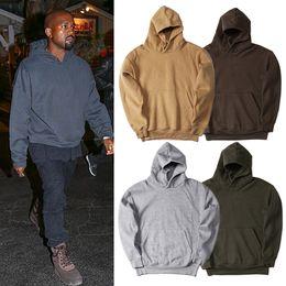 2318163f808e Men s Pullover Fleece Hoodie Kanye West Hip Hop Clothes Streetwear Plain  Hoodies Men Women Autumn Winter Hooded Sweatshirt Jacket Coat