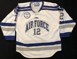 fuerza aérea de la vendimia Rebajas Vintage Air Force Falcons # 12 Ben Persian Hockey Jersey bordado cosido Personalizar cualquier número y nombre Jerseys