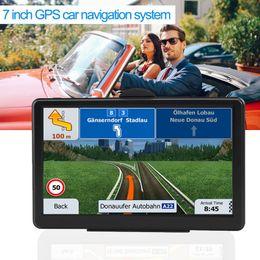 camiones gps Rebajas Sistema de navegación GPS GPS para automóvil con pantalla táctil de 7 pulgadas para camioneta de navegación RAM256M + ROM8GB FM AV-IN SAT NAV con Map Sun Visor