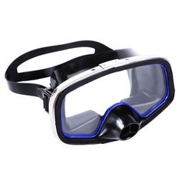 Tiras de silicona online-Hombres Mujeres Buceo Goggle Free Breathe Tira de silicona Antiniebla Nariz grande Nariz ajustable Máscara de natación Lente ancha protectora Submarino
