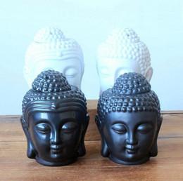 2019 castiçais de pilar de vidro Queimador de óleo De Cerâmica Aromaterapia Buda Cabeça Aroma Óleo Essencial Incenso Buddha Tibetano Queimador de Incenso Difusor Indiano