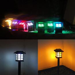 2019 kleinste sonnenlicht Solar Garten Rasen Lichter bunte einfügen Boden Palace Lichter 6Pcs Landschaft kleines Haus Edelstahl Dekoration Lampe günstig kleinste sonnenlicht