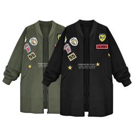 abrigo de lana rosa con volantes Rebajas Escudo causal suelta media eslora postal Escudo otoño rebeca de las mujeres personalizada Patch chaquetas de gran tamaño al por mayor de *
