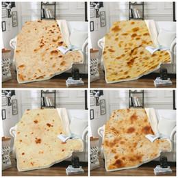manta de terciopelo de algodón Rebajas México Tortilla Manta Pancake 3D Impresión Digital Pad Al aire libre Camping Cuadrado Alfombra Algodón Terciopelo Invierno Mantener caliente 65cs C1