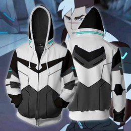 cosplay hoodies zipped Coupons - BIANYILONG 2019 New Autumn Winter 3D print Voltron Shiro Legendary Defender Cosplay Zip Up Hoodie Jacket clothing