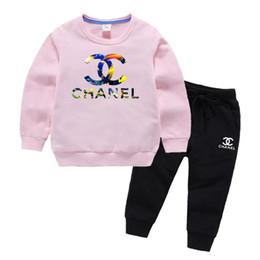 Deutschland ChaneILogo Kinder Designerkleidung für Kinder Hoodies Set Herbst-Baby-Kleidung Boy Outfits Kleinkind Mode Anzug Langarm-Kind-Klage Versorgung