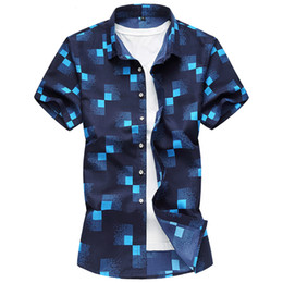 M-7XL рубашка 2019 новый мужской моды бизнес с коротким рукавом нерегулярность 3D печати Платье рубашка удобная повседневная Гавайский supplier new fashion 3d short dresses от Поставщики новые короткие платья 3d моды