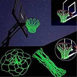 sapatas da figura da forma Desconto Rede de basquete Hoop Brilho na Luz Escura Glowing Basketball Hoop Net Substituição Todo o Tempo Grosso Tamanho Padrão Heavy Duty Indoor Ao Ar Livre