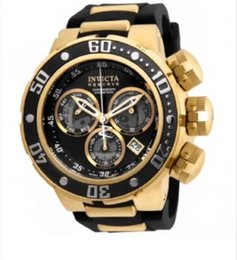 invicta luxusuhren männer Rabatt Invicta Reserve Modell -21.642 Subaqua Sea Dragon Swiss Black Gold Luminous Chronograph 52mm Luxuxmänner Quarzuhr Neu