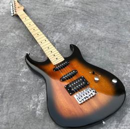 2019 véritable électrique En stock Guitare électrique vintage humaine avec manche en acajou et manche en érable Touche Guitarra, affichage de photos réelles, livraison gratuite. promotion véritable électrique