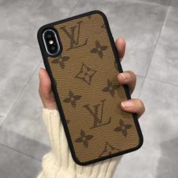 Высококачественный роскошный винтажный модный чехол для телефона для iPhone X XS XR Xs Max Кожаный дизайнерский чехол для Samsung S10 Plus S9 S8 note8 note9 от