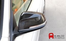 2019 bmw rückspiegel Die Hohe Qualität Für BMW 7er-Reihe F01 2014 2015 True Carbon Seitenspiegel Rearview-Abdeckung Borte mit Abbiegeleuchte Loch 2st rabatt bmw rückspiegel