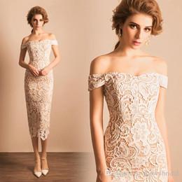 New Vintage Tee Länge Lace Brautjungfer Kleider aus der Schulter kurze Frauen Mantel ausgestattet Hochzeit Brautjungfer Kleid nach Maß von Fabrikanten