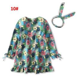 2019 nouveaux vêtements pour enfants robes printemps et en automne fille robe manches longues robe deux ensembles bandeau + robes bébé fille vêtements BY0764 ? partir de fabricateur