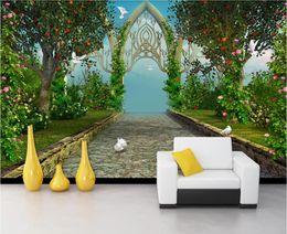 Deutschland Fototapete des Raumes 3d kundenspezifisches Traumgarten-amerikanisches Gaststätte-Hotel Fernsehhintergrund-Wandtapete für Wände 3 d cheap photo background garden Versorgung
