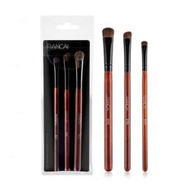 Canada 3pcs / set pinceaux fard à paupières set femme outils de maquillage brosse cheval cheveux poignée en bois utilisation facile pour le maquillage débutant Offre