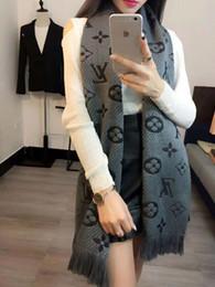 Thick knitted wool scarves on-line-Mais novo 35 cm * 180 cm Mulheres Design de Moda Cachecóis Homens Inverno Malha de Lã Cashmere Cachecol de Alta Qualidade Grosso Quente Longo Cachecol A44ER