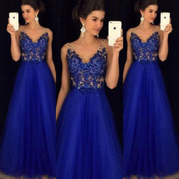 39d20f52ba 2018 Royal Blue Dress Floor Length Strapless Formal Dresses Dress With  Shining Beading Vestido De Festa