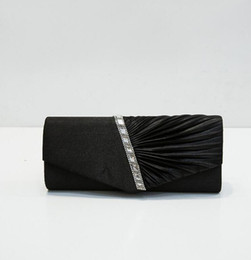 Mujer SaDiamante Ruffle Party Evening Envelope Clutch Bag Prom Bridal Purse desde fabricantes