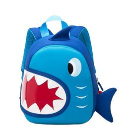 Sacchetti di scuola impermeabile del bambino squalo blu bambini dello zaino del fumetto 3D Zaino Sacchetti di scuola dei bambini dell'animale del fumetto per la borsa del bambino del bambino delle ragazze ragazzi da