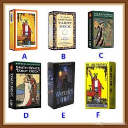 научный пакет Скидка 6 стилей Tarots Witch Rider Smith Waite Волшебник Колода карт Таро Настольная игра с красочной коробкой Английская версия