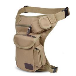 a54d73a5c5cc brown canvas fabric Australia - Men Thigh Bags Vintage Fanny Pack  Multifonction Canvas Fabric Money Belt