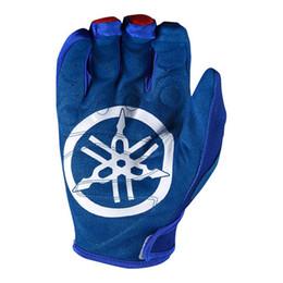 moto-rennhandschuhe Rabatt Freies verschiffen Heißer 2018 yamaha Motocross Handschuh für Vier Jahreszeiten Blaue Moto Motorradhandschuhe Dirt Bike ATV Moto MX Handschuhe L