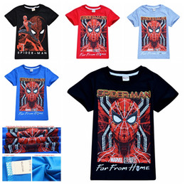 spiderman t-shirt bambini Sconti 4-10 anni neonati maschi spiderman T-shirt bambini ragazzo designer vestiti estivi tshirt manica corta top per bambini vestiti casual