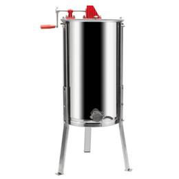Extrator manual de aço inoxidável do mel de 2 quadros com a máquina do mel da prata do suporte de