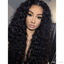 Long Curly Real Hair Wigs Pre Plucked Glueless Virgin Brazilian Remy Hair Curly Human Hair Lacefront Wig For African American Women
