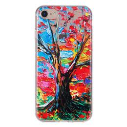 Étui souple en TPU pour iphone8 4.7 '' arbre de peinture anti-dérapant couleur peau ? partir de fabricateur
