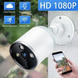 2019 caméra cctv étanche vision nocturne Caméra IP sans fil 1080P extérieure étanche Bullet caméra de sécurité Wifi CCTV caméra vision nocturne Cloud P2P Audio bidirectionnel caméra cctv étanche vision nocturne pas cher